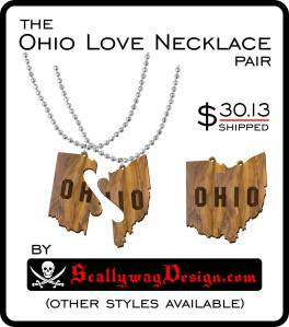 Custom Laser Engraved Ohio Love Controller Necklace